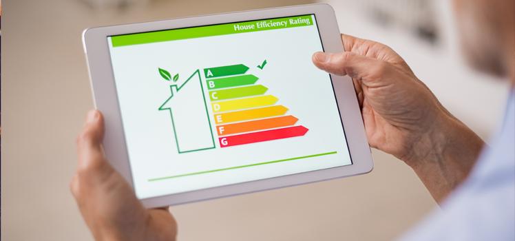 energy performance ratings on an ipad