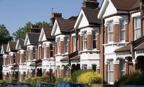 Buy to let property row of houses