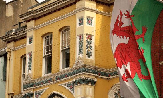 Property let in Wales with Welsh Flag