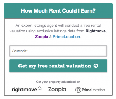 Link to a rental valuation
