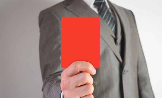 landlord with banning order offence red card