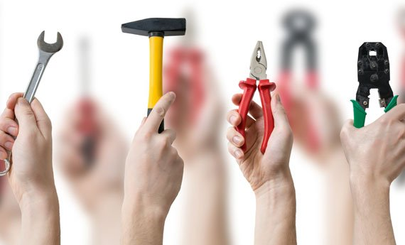 Tools for property maintenance.