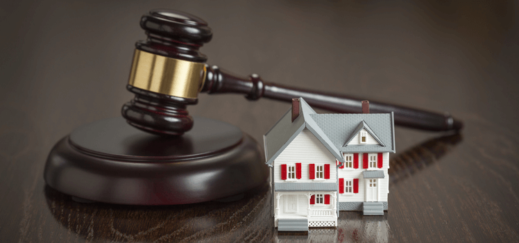 Ending a Tenancy Legal Process - hammer and house