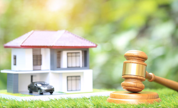 Buying property at auction and auction gavel