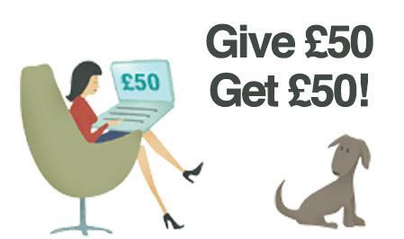 Give £50 Get £50 with our referral programme
